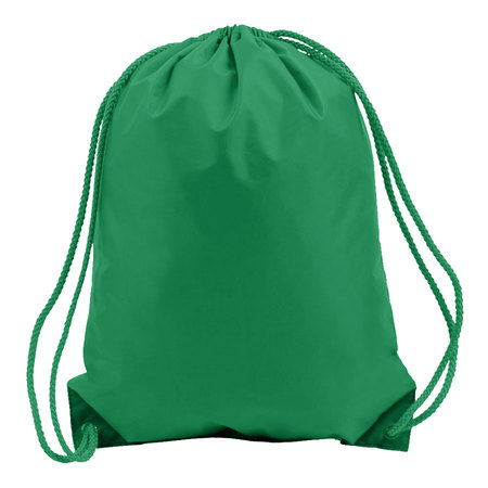 Kelly Green Drawstring Bags