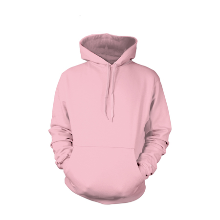 Light Pink Pull-Over Hoodies