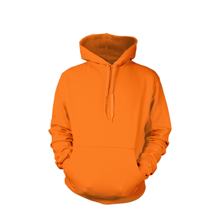Safety Orange Pull-Over Hoodies