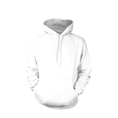 White Pull-Over Hoodies