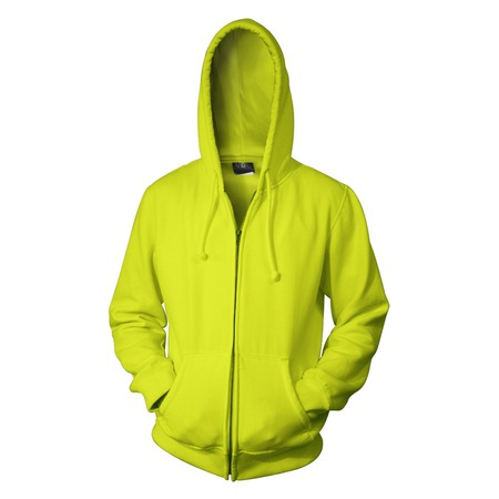 Safety Green Zip Up Hoodies